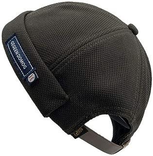 Croogo Beanie Brimless Cap Docker Sailor Biker Cap Rolled Cuff Harbour Hat Summer Outdoor Casual Cap(Black)