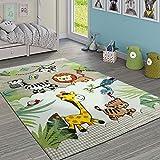 Paco Home Kinderteppich Kinderzimmer Dschungel Tiere Giraffe Löwe AFFE Zebra