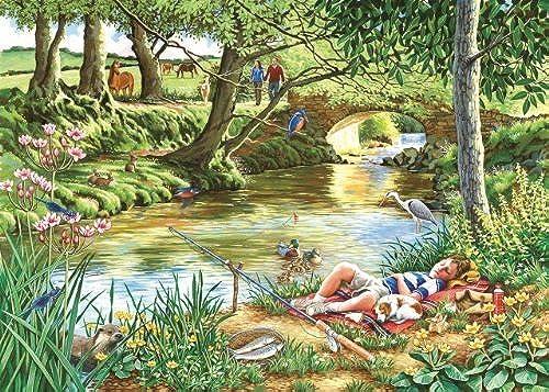 Mejor precio Big 500 Piece Jigsaw Puzzle - Gone Fishing by by by The House of Puzzles  disfruta ahorrando 30-50% de descuento