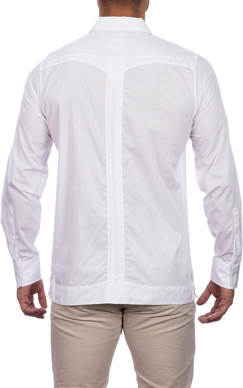 Manchester Men's Guayabera Shirt Long Sleeve Regular Fit