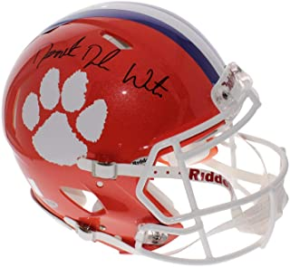 Derrick Deshaun Watson Full Name Signature Autographed Signed Clemson Tigers Schutt Full Size Authentic Helmet - 1 of 1 - Beckett Authentic