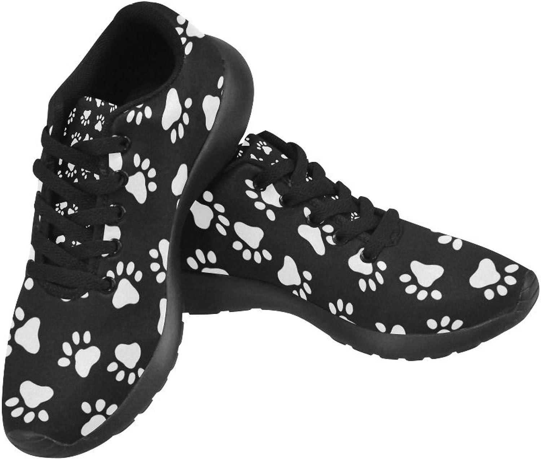 InterestPrint Women's Sneakers Jogging Lightweight Go Easy Walking Casual Comfort Sports Running shoes Black