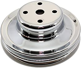 Assault Racing Products A9723 Big Block Chevy Chrome Double Groove Long Water Pump Pulley BBC 396 427 454