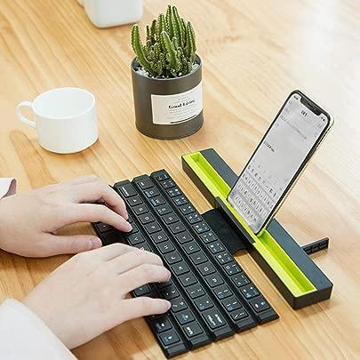 Faltbare drahtlose Bluetooth-Tastatur Flexible Tastatur Roll Up Keyboard Weiche universelle Computertastatur f r PC Laptop Notebook