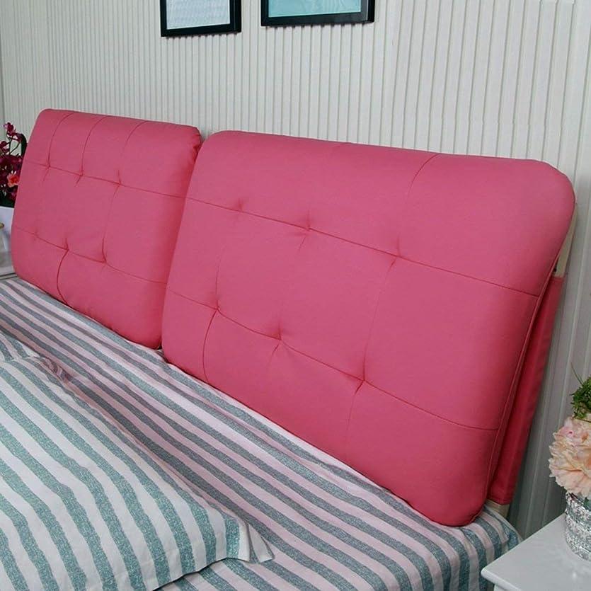 不機嫌人土GLP レザーベッドヘッドクッションラージバックレザーヨーロッパヘッドボードソフトバッグ畳ベッドヘッドクッション枕、5色&4サイズ、 (Color : 2#-With headboard, Size : 180CM)