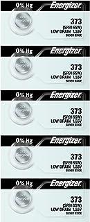 Energizer Battery 373(SR916SW) Silver Oxide 1.55V (5 Batteries Per Pack)