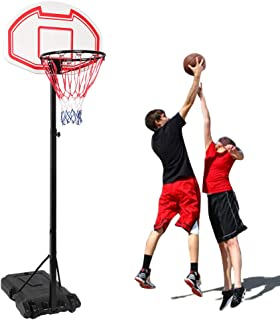 Portable Basketball System, Removable Basketball Hoop, Portable Basketball Hoop with Adjustable Height, Backboard and Wheels for Youth Adult Indoor Outdoor Use