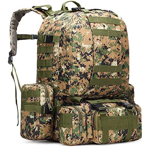 Randonnée De Camouflage Militaire Yy.f Sac Tactique Grand Sac à Dos Alpinisme Portefeuille Camping Sacs De Voyage Oxford Sac à Dos En Plein Air. Multicolore,F-30*22*50cm