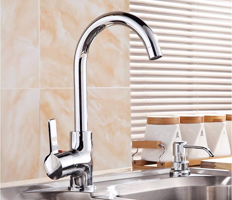 FZHLR Messing Küchenarmatur 360-Grad-Küchenmischer Cold & Hot-Küche-Hahn-Wasser-Hahn-Küche-Hahn Torneira Cozinha