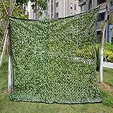 Woodenland Malla de camuflaje, ideal para acampada y ocultarse, 2x 3m, multicolor, verde