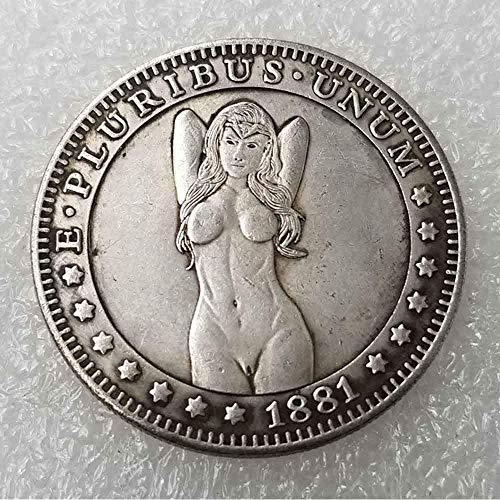 DDTing Best Morgan Münzen – 1881 Hobo Nickel Münze – Old Coin Collecting – USA Old Morgan Dollar – Gedenkgeschenk Münze – Es ist handgefertigt Handwerk GoodService