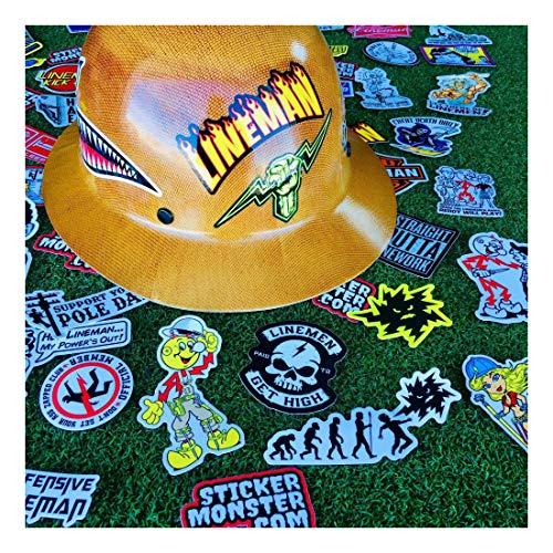 Lineman (64) Hard Hat Stickers Hardhat Sticker, Linemen, Electrician, Reddy IBEW