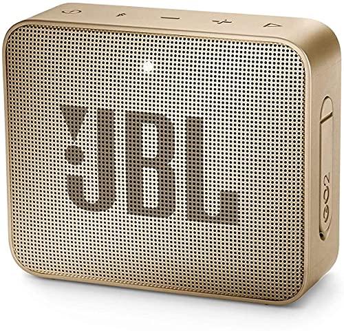 JBL GO - Altavoz Bluetooth portátil, Impermeable IPX7, con micrófono, hasta 5 Horas de autonomía, Color champán