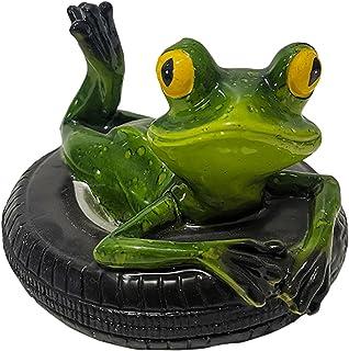 カエルの装飾品 かわいい カエルの置物 ガーデンオーナメント 樹脂製の装飾品 中庭の水に浮かぶ ガーデニンググッズ ガーデンフローティングオーナメント ガーデニング かざり お庭 飾り 池を飾り 庭の動物の彫像