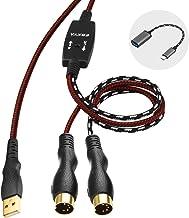 EBXYA USB MIDI Cable 6 Ft, MIDI Input&Output to USB