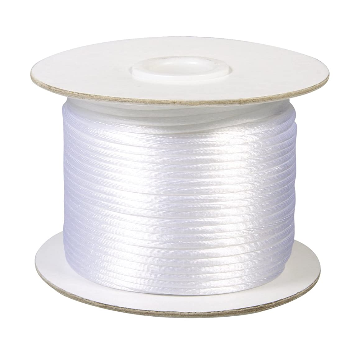 Rayher 2mm Satin Cord, 50 m, White