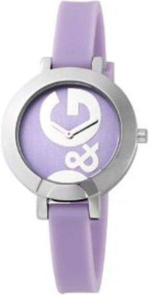 Dolce & gabbana,  orologio da donna, cinturino in silicone e cassa in acciaio DW0668