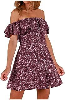 Coedfa Womens Elegant Slim Sleevelees Stripe Elastic Waist Casual Dress