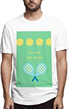 Silver Bullet Tennis You Just Got Served Tennis Player Men's Printing Stylish Black Customised T-Shirts Omarion Movies