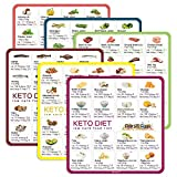 Keto Cheat Sheet Magnets(6 Pcs), Keto Products for Beginner, Quick Guide Fridge Magnetic Reference Visual Charts for 96 Keto Foods, Ketogenic Diet Refrigerator Magnets, Easy to Read