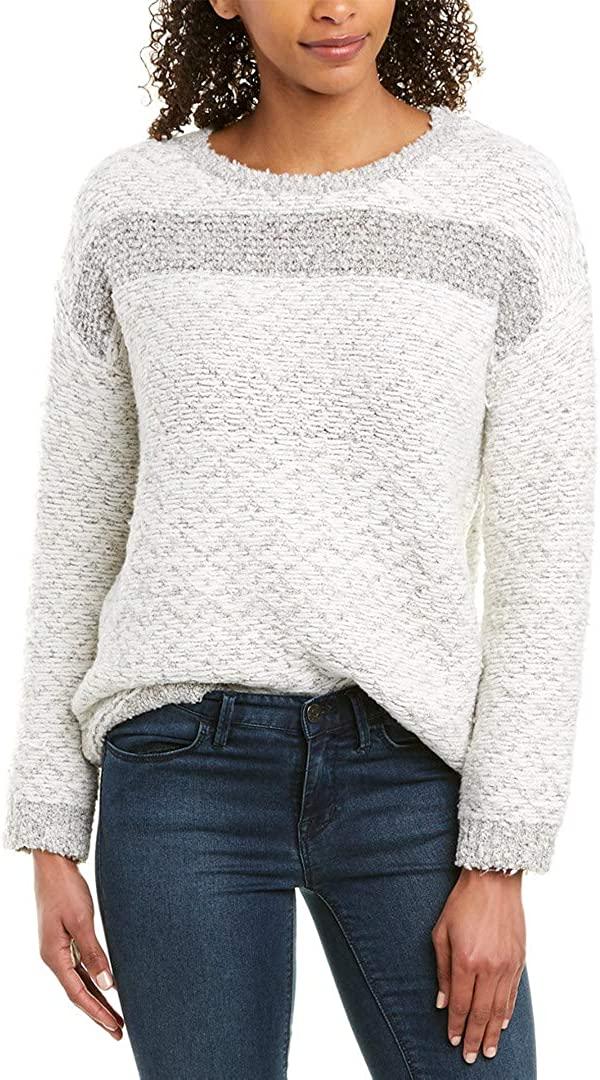 Vince Camuto Womens Long Sleeve Pullover Sweater, White, Small