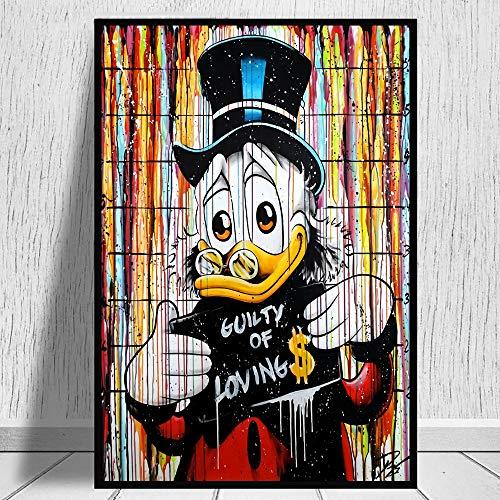 HGlSG DIY Pintar por números Arte de Graffiti de Dibujos Animados Pintar por numeros Personalizado Adecuado para la decoración de la Sala de Estar para niños, estudia50x75cm(Sin Marco)
