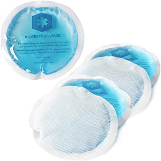 IceWraps Reusable Gel Ice Packs With Cloth Backing - Hot Cold Pack for Kids Injuries, Breastfeeding, Wisdom Teeth, First Aid - Round 5 Pack