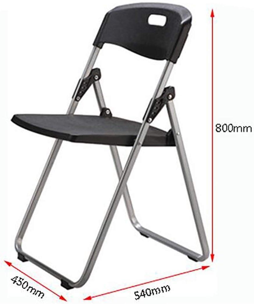 Chaise pliante Dossier Chaise de salle à manger Chaise de réception Ménage Loisirs Office de la famille Restaurant Café (Color : D) B