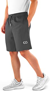 Contour Athletics Gym Shorts for Men (Roman),  Men's Workout Running Shorts with Zipper Pockets