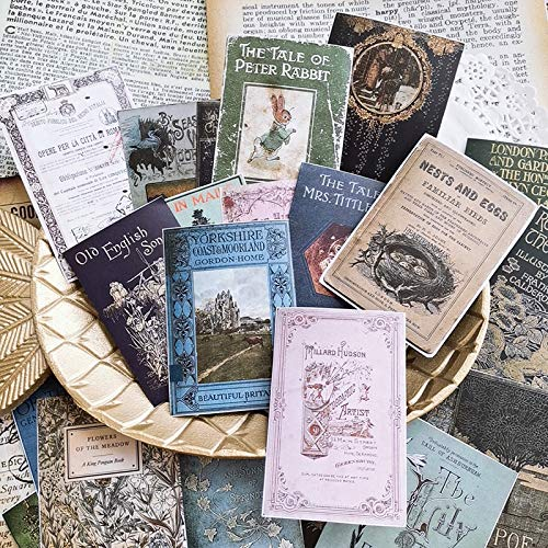 Alter Buchumschlag Material Papier Junk Journal Planer Bastelpapier Scrapbooking Vintage dekorative Aufkleber DIY Bastel Fotoalben