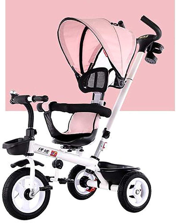 SANLUNCHE Triciclo Pedale For Bambino Pieghevole Apprendimento Equilibrio Auto Bambini Leggero Bicicletta Bicicletta Staccabile uomoiglia Girevole Comodo Sedile 107 × 81 × 62 Cm Mac na per bambini
