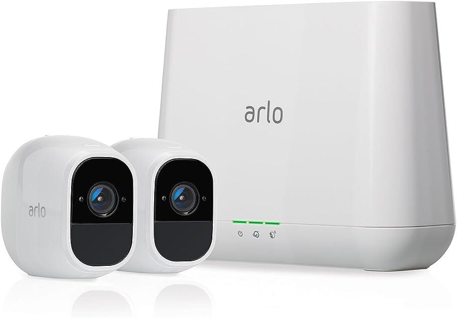 Arlo Pro 2 VMS4230P-100EUS - Sistema de seguridad y vídeo vigilancia de 2 cámaras sin cables 1080p HD (recargable interior/exterior visión nocturna audio bidireccional visión 130º)
