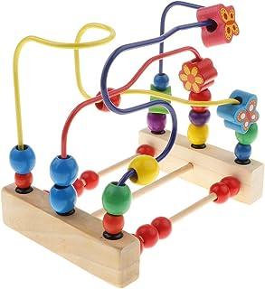 Homyl Imagination Generation Developmental Wooden Bead Maze Game, Wooden Bead Maze Toy