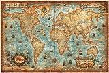 Modern World Antique Map, Plano