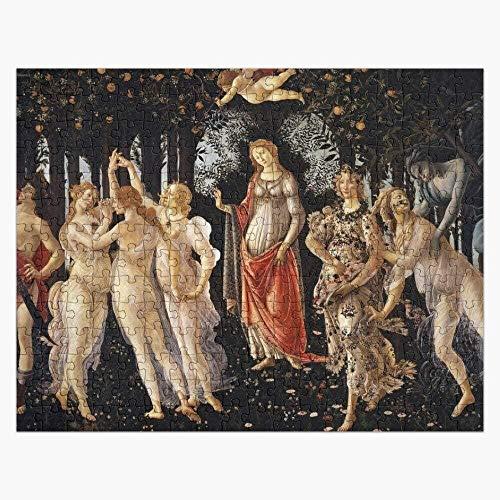 YYTTLL Holzpuzzles 1000 Stück - La Primavera - Allegorie des Frühlings - Sandro Botticelli - Puzzle Lernpuzzlespielzeug