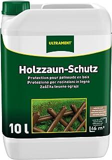 holzlasur Ultrament Holzzaun-Schutz, naturbaun, 10l