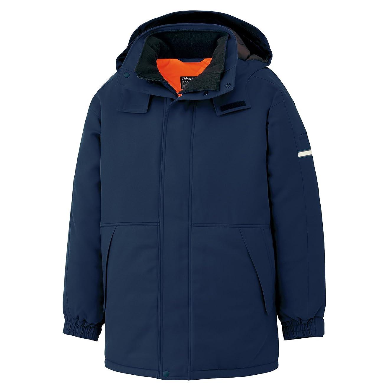 クマノミ勃起シンボルミドリ安全 防寒服 冷蔵庫内 屋外作業用 撥水加工 極寒 防寒 コート M4067 ネイビー 3L