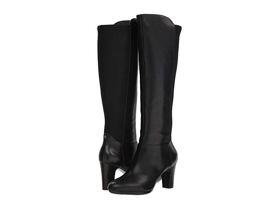 Anne Klein Sylvie Boot Wide Calf (Black Leather) Women's Boots