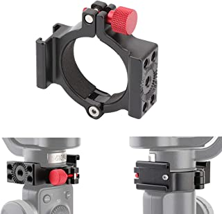 AFVO Ring Clamp with Cold Shoe for Zhiyun Smooth 4 Applied to Rode Microphone LED Light, Anti-Scratch (New Version)
