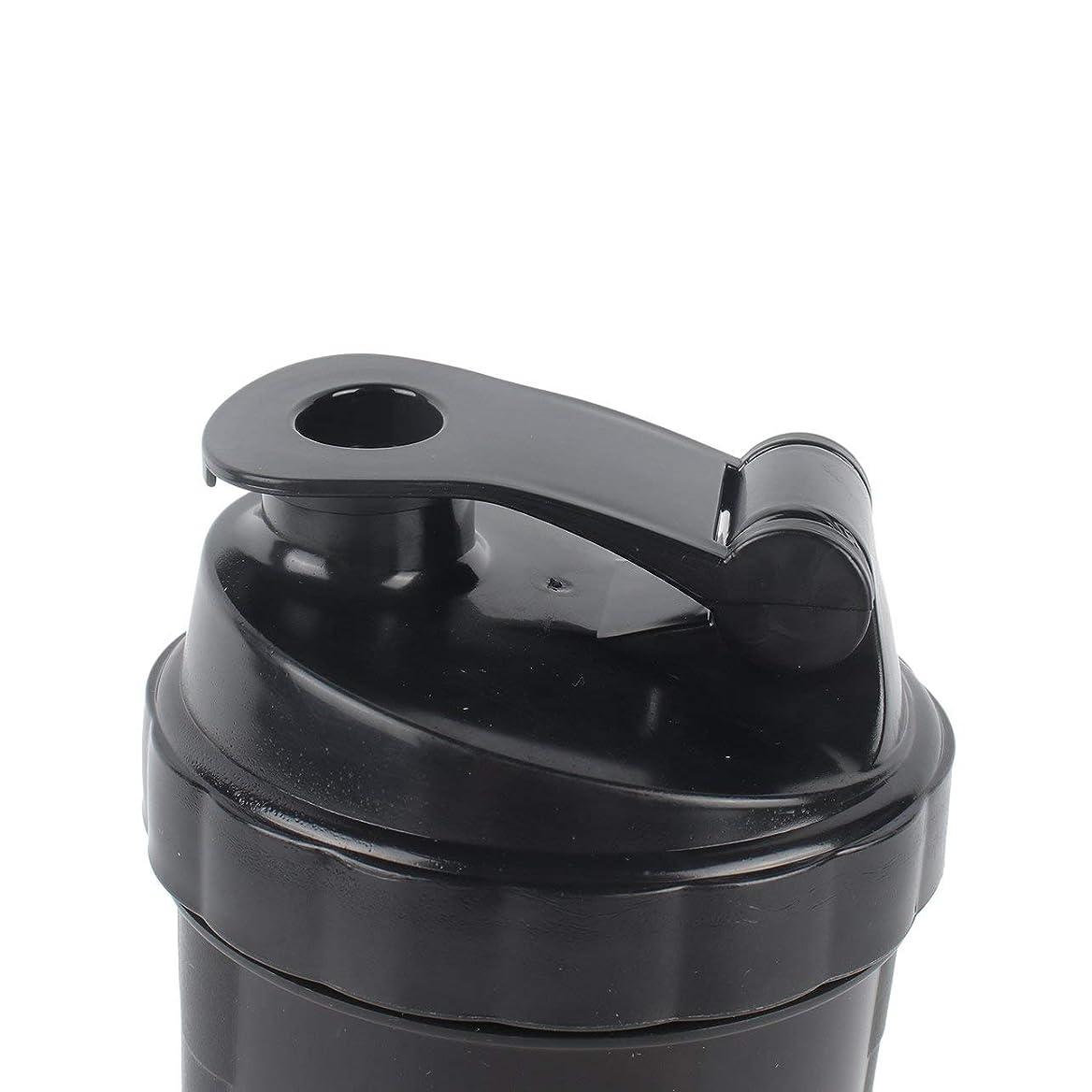 一致セマフォ腸DeeploveUU ポータブルジムプロテインシェーカーミキサーボトルポータブルスポーツランニングジョギング泡立て器ボールシェーカーボトル
