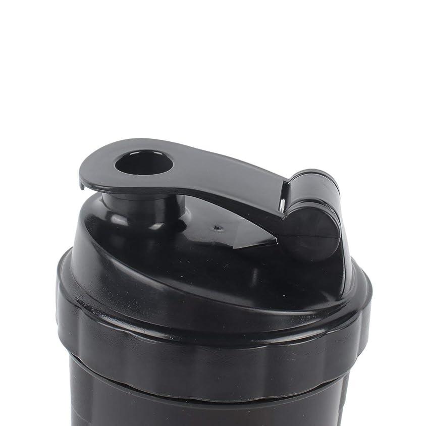 過度の薄汚いドナーDeeploveUU ポータブルジムプロテインシェーカーミキサーボトルポータブルスポーツランニングジョギング泡立て器ボールシェーカーボトル