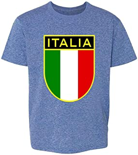 Italy Soccer National Team Retro Crest Youth Kids Girl Boy T-Shirt