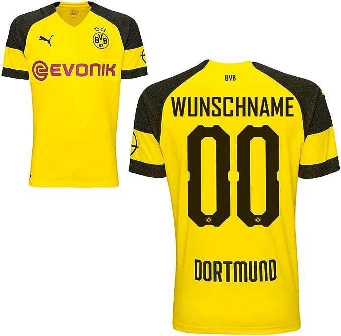 Puma, maglia da calcio da uomo del BVB Borussia Dortmund, stagione 2018-2019, con il nome del giocatore