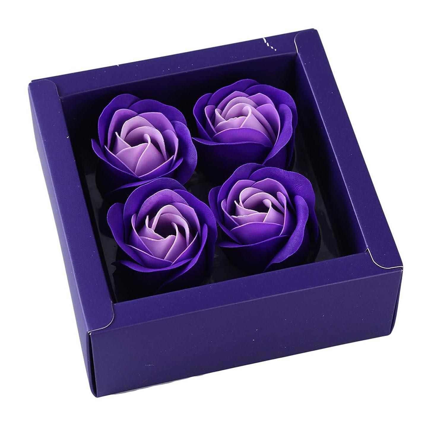 巨大な首相送信するBigsweety ロマンチックな花の香りのバスソープバラの花びら創造的なバラの花びらボディソープバレンタインデーの贈り物 (紫の)