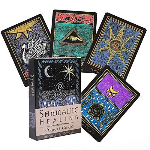 Tarotkarten, schamanische Heilungs-Orakelkarten Tarot, englische Version, Divination Fate Deck Brettspiele für Familienfeiern, für Kinder Erwachsene
