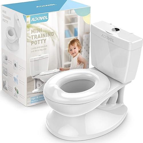 ADOVEL Toilette Enfant, Pot Bebe Toilette, Pour Apprentissage de La Propreté, Facile à Propre, Blanc