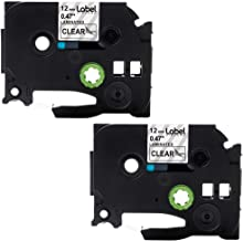 5-Pack 12mm 0.47 Inch Black on Clear Replace Brother P-Touch Clear Label Tape TZe-131 TZ-131 1//2 inch Laminated TZe Tape for Ptouch PTD210 PT1880 PTH110 PTD400 PT1830 PTD600