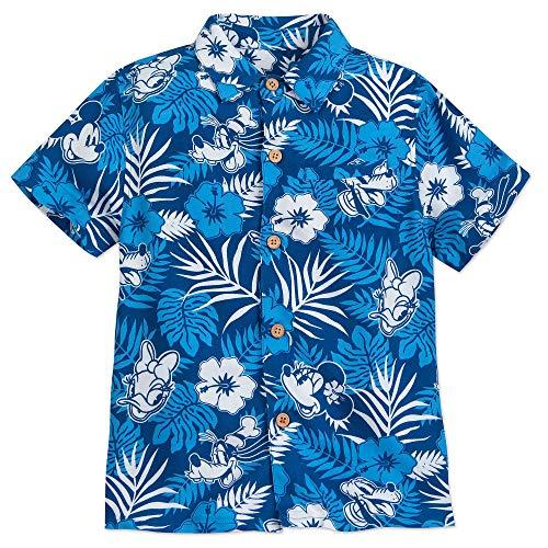 Disney Mickey Mouse and Friends Aloha Shirt for Boys Hawaii Size 9/10 Multi