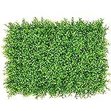 Hainice Panel de Cobertura Falsa Artificial Planta Pared Ivy Pantalla Valla Telón de Fondo de imitación de Hierba Decorativa para el jardín Trasero Grande de Cacahuete Hoja Verde