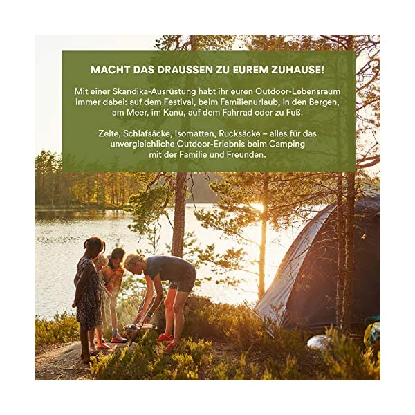 Skandika Hammerfest Family Dome Tent with 2 Sleeping Cabins, 200 cm Peak Height, Blue, 4-Person 1